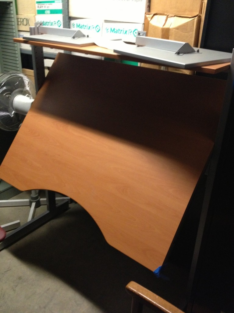 The drafting table that became my first standing desk.