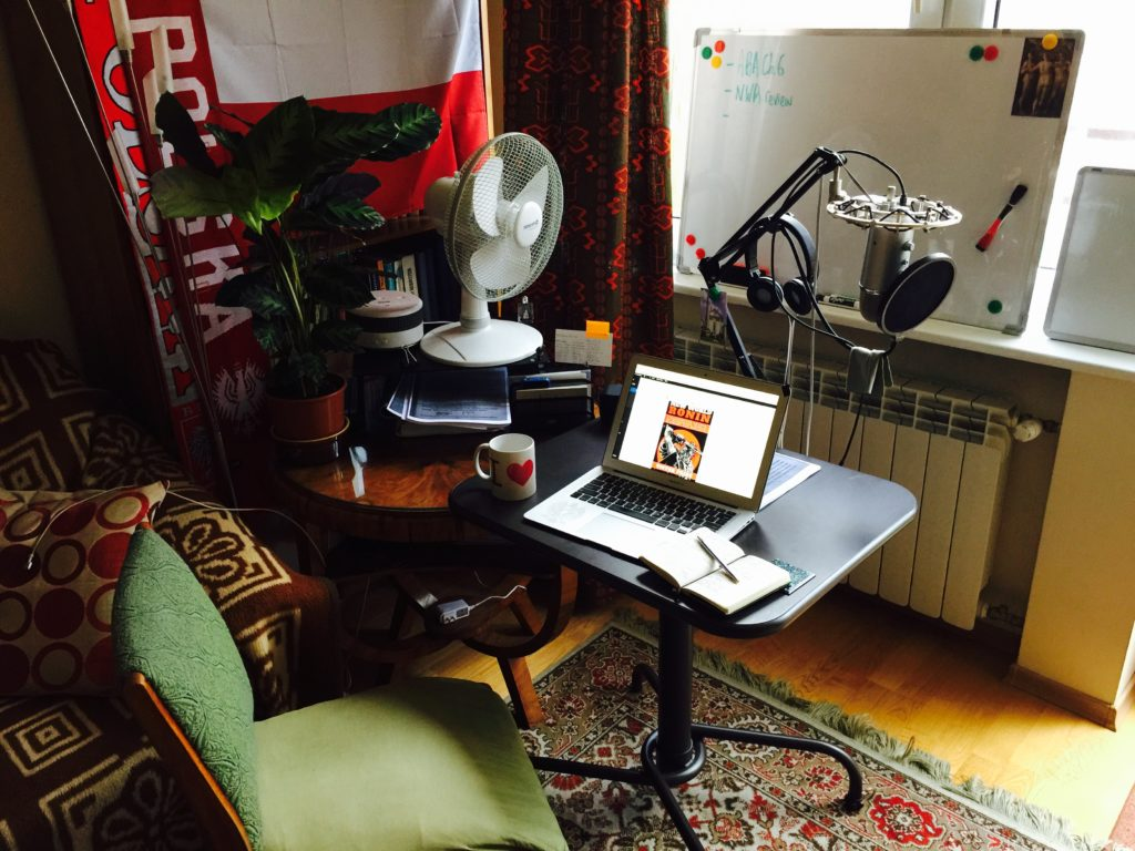 "My ""War Room"" office in Warsaw"